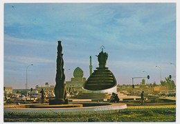 BAGHDAD, Al Mathaf Sqare,monument, Mosque, IRAQ,   Vintage Old Photo Postcard - Iraq