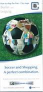 BRD Berlin + Leipzig Soccer And Shopping Fussball Und Einkaufen Stadtpläne Tax Free Shopping Fussball Mehrsprachig - Europe