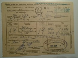 H2.1  Ticket De Train - Railway - Schlafwagen- Wagons-Lits - W.L.  -Wien -Zürich  M.kir. ÁV -Budapest 1934 - Titres De Transport