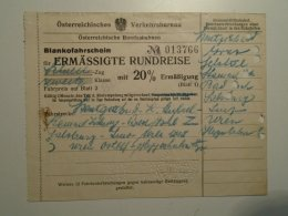 H2.3-H2.4 Ticket De Train - Railway-Blank Ticket-Szentgotthárd Graz Bad Ischl Salzburg Linz Wien Hegyeshalom-Austria1932 - Unclassified