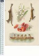 CHROMO - Format 13,5 X 22,5 Cm Sur Carton - Muguet, Gibier, Chiens Humanisés - Beaux Arts, Peinture - Kaufmanns- Und Zigarettenbilder
