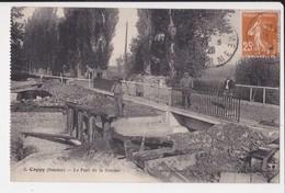 80 Cappy Pont De La Somme Cpa Animée , Carte Rare - Autres Communes