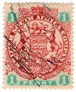 (I.B) Rhodesia/BSAC Revenue : Duty 1d - Great Britain (former Colonies & Protectorates)