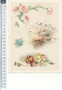 CHROMO - Format 13,5 X 22,5 Cm Sur Carton -  Fleurs, Oiseaux - Beaux Arts, Peinture - Chromos