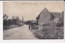 80 Cappy La Rue De Chuignes Street Cpa Animée Edit Collinet Cachet 1921 - Autres Communes