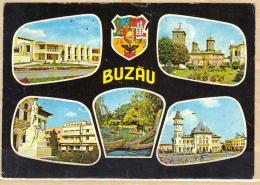 75-995/ ROM.  BUZAU DIFFEREND VIEWS  Sent To Sofia / BG 1976 - Romania
