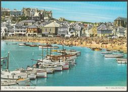 The Harbour, St Ives, Cornwall, 1972 - John Hinde Postcard - St.Ives