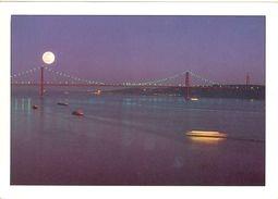 """Portugal - Lisbonne - Le Tage, Le Pont Et Sur L'autre Rive La Statue Du """"Christ Roi"""" - Sofoto - Cascais Nº LX8A - - Lisboa"""
