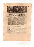 Jugement Rendu Par CHAUVELIN Intendant,TOURS,condamne GOMBOUST Président Du Grenier à Sel De La Gravelle.23 Pp.1712 - Documents Historiques