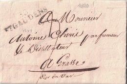 HAUTE GARONNE - 30 St GAUDENS - AVEC TEXTE ET SIGNATURE LE 7 AVRIL 1820 P1) - Marcophilie (Lettres)