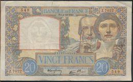 °°° FRANCE - 20 FRANCS 4/12/1941 °°° - 1871-1952 Antichi Franchi Circolanti Nel XX Secolo