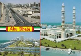 EMIRATS ARABES UNIS---ABU DHABI--multivues--( La Mosquée )--voir 2 Scans - Emirats Arabes Unis