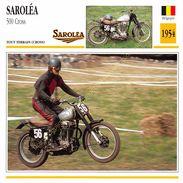 Fiche Photo Moto BELGIQUE SAROLéA 500 Cross 1954 Edit Edito Service - Autres