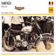 Fiche Photo Moto BELGIQUE SAROLéA 500 Cross 1951 Edit Edito Service - Autres