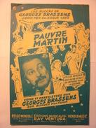 PARTITIONS  - GEORGES BRASSENS - PAUVRE MARTIN - PAROLES ET MUSIQUE - EDITIONS RAY VENTURA - Noten & Partituren