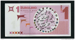 "EURO-Note ""minopolis, Wien,  1 EUROLINO"", Typ A, RRRRR, Nov. 2005, UNC, Canceled, 125 X 65 Mm - Oesterreich"