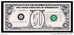 "Test Note ""ZIMMERMANN-Perconta"" Testnote, Type 2, 50 Units, RRRRR, UNC, Sehr Alt!! - USA"