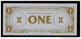 "Test Note ""HILTON"" Testnote,  1 Dollar, RRRRR, Used, Gebraucht, Sehr Alt!! Dollar Size - USA"