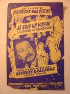 PARTITIONS  - GEORGES BRASSENS LA MAUVAISE REPUTATION J'AI PERDU LA TRAMONTANE - PAROLES ET MUSIQUE EDITIONS RAY VENTURA - Noten & Partituren