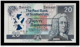 Test Note, Schottland  20 Smakeroonies, Testnote, Typ B, RRRR, UNC, 170 X 86 Mm, Trial, Design-Studie - Non Classificati