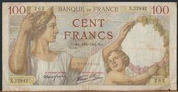 °°° FRANCE - 100 FRANCS 19/6/1941 °°° - 1871-1952 Anciens Francs Circulés Au XXème