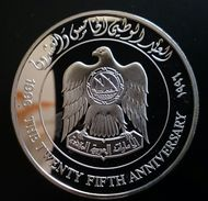 """United Arab Emirates 50 DIRHAMS 1996 Silver Proof """"25th Anniversary Of The UAE - National Day Issue"""" Free Shipping - Emirats Arabes Unis"""