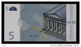 "Test Note ""NGZ"" Testnote, 5 EURO, Beids. Druck, RRR, UNC - EURO"