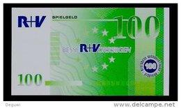"EURO-Note ""R + V"" 100 EURO, Testnote?, Beids. Druck, RRRR, UNC, 148 X 82 Mm - EURO"