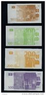 "Spielgeld ""WENCO 50-100-200-500 EURO Set 2, Training, Education, Play Money, Ca. 85 X 45 Mm, RRR, UNC - Sonstige"