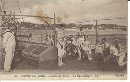 Scénes De Bord-division Des Ecoles La Gymnastique - Bateaux