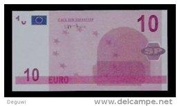 """Test Note, Hersteller """"SP"""" 10 EURO, Testnote, Beids. Druck, RRRR, UNC, 105 X 55 Mm - EURO"""