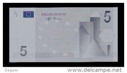 """Test Note, Hersteller """"SP"""" 5 EURO, Testnote, Beids. Druck, RRRR, UNC, 98 X 50 Mm - EURO"""