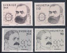 1997 Joint Issue / Gemeinschaftsausgabe : Switserland - Sweden : Nobelpreis / Nobel Prize : A. Nobel + P. Karrer - Gezamelijke Uitgaven