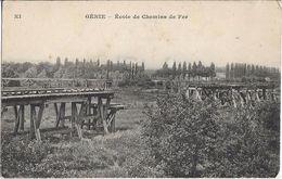 CPA - GENIE - école De Chemin De Fer - Militaria