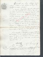 ROCHEFORT MONTAGNE 1852 ACTE RECEPISSE DE COMPTE POUR MICHEL GENESTE CONTRE MARGUERITTE HEYRAUD : - Manuscrits