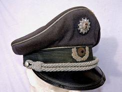 SUPERBE CASQUETTE OFFICIER POLICE BERLIN - RFA - Fabrication SCHELLENBERG Années 1945-50 - ALLEMAGNE FEDERALE - Casques & Coiffures