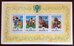Ghana 1980 Year Of The Child Papal Visit Minisheet MNH - Ghana (1957-...)