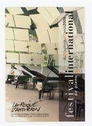 Carte Pub - FESTIVAL DU PIANO 2006 LA ROQUE D'ANTHÉRON - Publicité