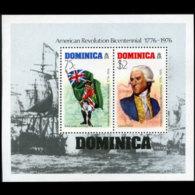 DOMINICA 1976 - Scott# 477a S/S US Bicent MNH - Dominica (1978-...)