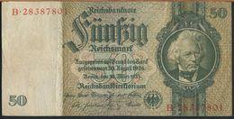 °°° GERMANY - 50 REICHSMARK 1933 SERIE B °°° - 50 Reichsmark