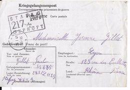 Correspondance Des PRISONNIERS De Guerre (Stalag 217) (carte Allemande) - Guerre 1939-45