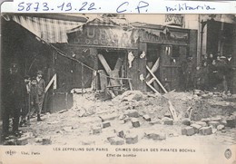 Militaria  : Les Zeppelins Sur Paris ( Effet De Bombe ) - War 1914-18