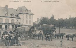 AURILLAC - N° 3 - ARRIVEE DES DILIGENCES - Aurillac