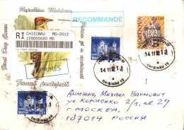 Chisinau To Moscow Custom Registration Sticker. Fauna. People. Definitive Issue. Architecture - Moldova