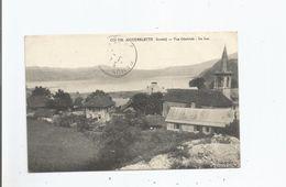 AIGUEBELETTE (SAVOIE) 219 VUE GENERALE LE LAC ET EGLISE 1924 - Autres Communes