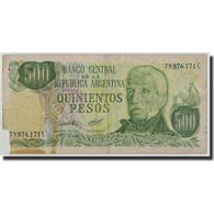 Argentine, 500 Pesos, Undated (1977-82), KM:303a, B - Argentine