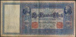 °°° GERMANY - EMPIRE 100 MARK 1908 SERIE B °°° - [ 2] 1871-1918 : German Empire