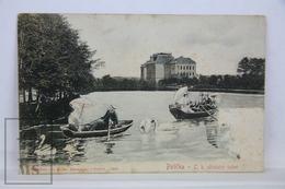 Old Postcard - Czech Republic - Polička- C.K. Učitelský Ustav/ Teachers Institute - Lake And Boats - República Checa
