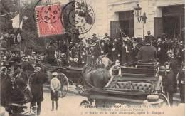 16 - Cognac - 9 Juin 1907 Visite De M. Barthou Ministre Des Travaux Publics, Sortie De La Salle Municipale Après Banquet - Cognac