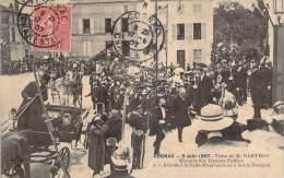 16 - Cognac - 9 Juin 1907 Visite De M. Barthou Ministre Des Travaux Publics, Arrivée à La Salle Municipale Le Banquet - Cognac